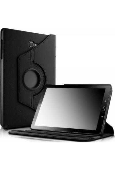 Engo Samsung Galaxy Tab A SM-P580 P587 10.1 Inç Tablet Kılıfı 360 Derece Korumalı Standlı Kılıf Siyah Renk