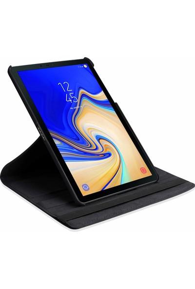Engo Samsung Galaxy Tab A 10.5 İnç SM-T590 Tablet Kılıfı 360 Derece Korumalı Standlı Kılıf Siyah Renk