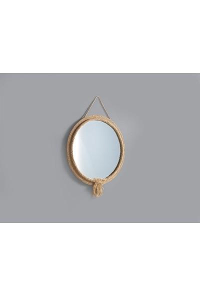 Dekorbizden Kalin Jut Halat Ayna 2
