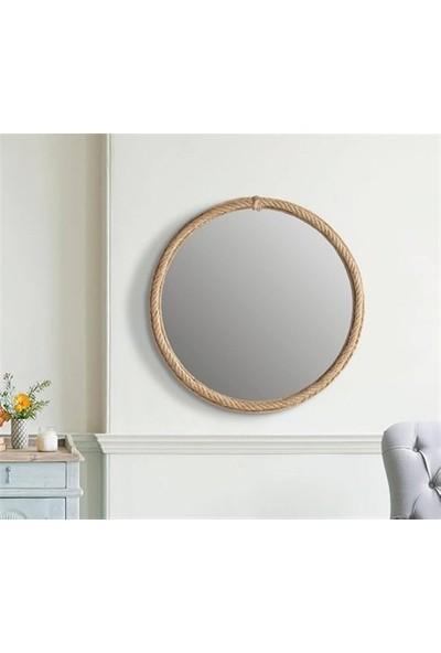 Dekorbizden Tekli̇ Jut Halatli Ayna 6