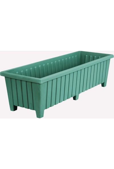 Üçsan Altı Ayaklı Balkon Saksısı 87 cm Yeşil
