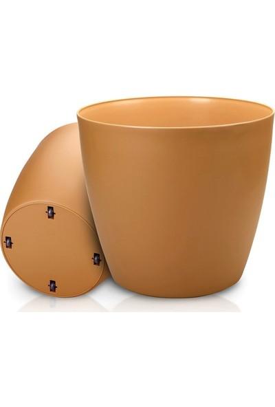 Üçsan Tekerlekli Saksı Kahve 45 cm