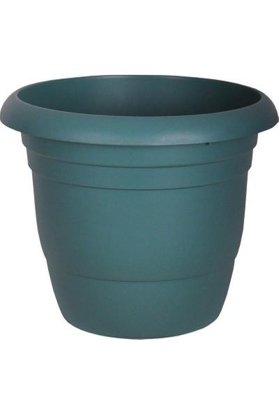 Üçsan Yuvarlak Saksı Yeşil 50 cm