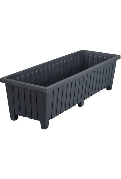 Üçsan Altı Ayaklı Balkon Saksısı 87 cm Siyah