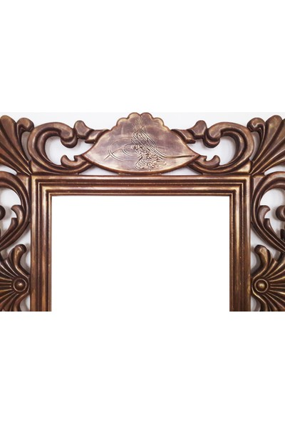 Rys Eskitme Masif Aynalı Çerçeve 89 x 89 x 2 cm