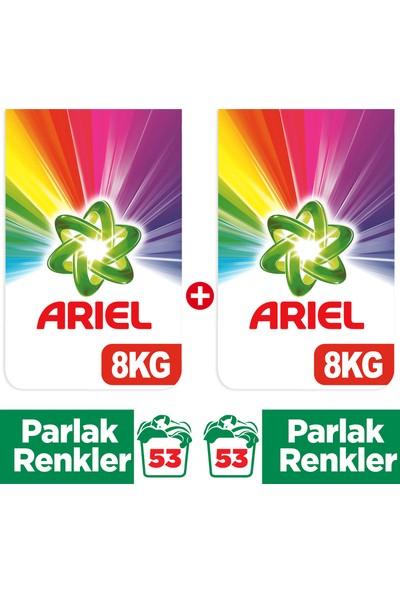 Ariel Parlak Renkler İçin 8 kg + Parlak Renkler 8 kg Toz Çamaşır Deterjanı