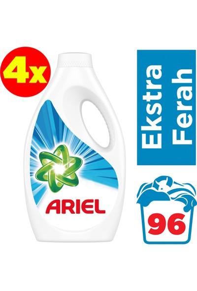 Ariel 24 Yıkama 4'lü Paket Sıvı Çamaşır Deterjanı Ekstra Ferah