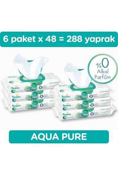 Prima Islak HavluMendil Aqua Pure Tekli Paket 48 Yaprak*6 (288 Yaprak)