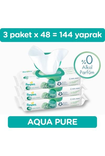 Prima Islak HavluMendil Aqua Pure Tekli Paket 48 Yaprak*3 (144 Yaprak)