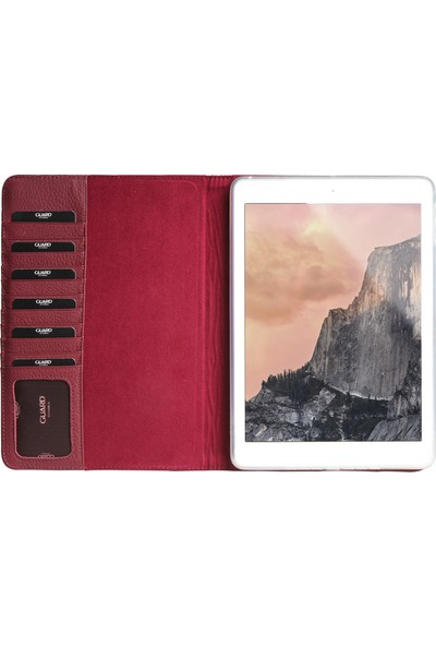 "Guard 9.7"" Bordo Deri iPad Kılıfı / Business & Casual"