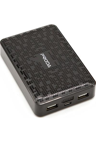 Proda Pure Series 12000 mAh Powerbank - Çift USB Çıkışlı - Siyah