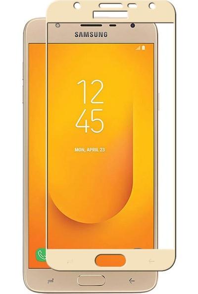 Dafoni Samsung Galaxy J4 Curve Nano Glass Premium Cam Gold Ekran Koruyucu