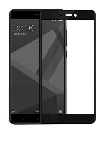 Dafoni Xiaomi Redmi 4X Curve Nano Glass Premium Cam Siyah Ekran Koruyucu
