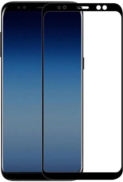 Dafoni Samsung Galaxy A6 Plus 2018 Curve Nano Glass Premium Cam Siyah Ekran Koruyucu