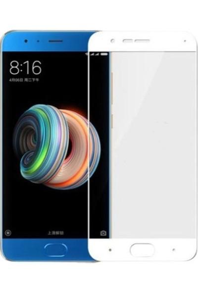 Dafoni Xiaomi Mi Note 3 Curve Slim Triple Shield Beyaz Ekran Koruyucu