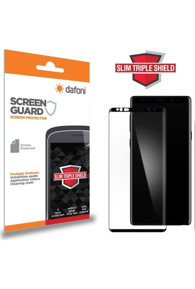 Dafoni Samsung Galaxy Note 9 Curve Slim Triple Shield Siyah Ekran Koruyucu