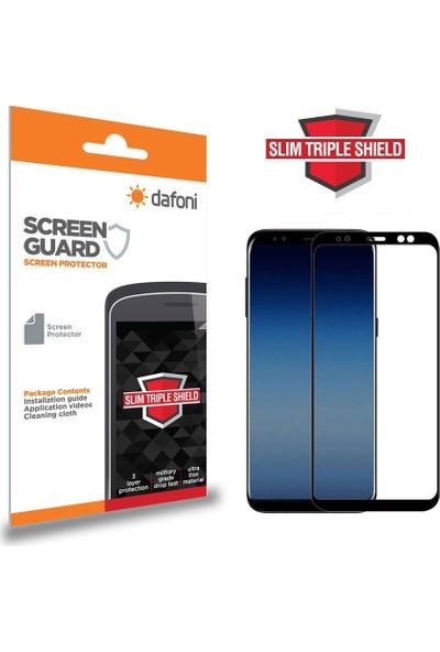 Dafoni Samsung Galaxy A6 Plus 2018 Curve Slim Triple Shield Siyah Ekran Koruyucu