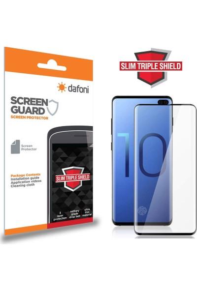 Dafoni Samsung Galaxy S10e Curve Slim Triple Shield Siyah Ekran Koruyucu