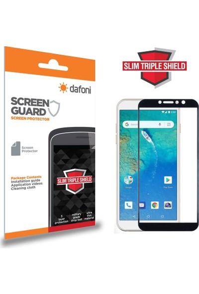 Dafoni General Mobile GM 8 GO Curve Slim Triple Shield Siyah Ekran Koruyucu