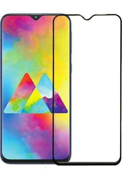 Eiroo Eiroo Samsung Galaxy M20 Curve Tempered Glass Full Siyah Cam Ekran Koruyucu