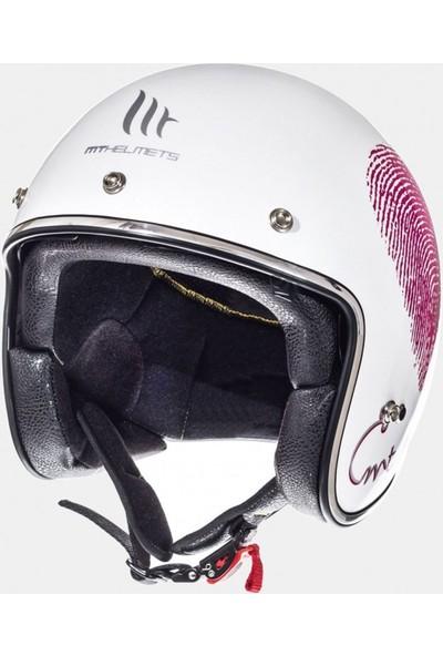 Mt Le Mans Sv Love Gloss Pearl Açık Motosiklet Kaskı 10223890