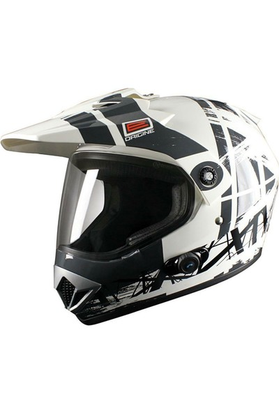 Origine Gladiatore Dakar Biancos Con Blinc Cross Motosiklet Kaskı