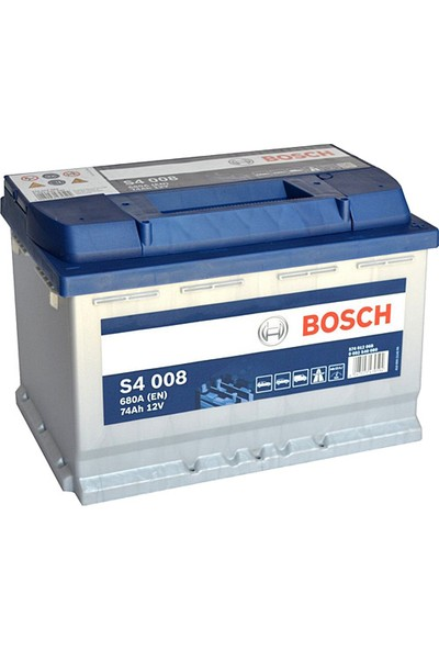 Bosch 12V 74AH (Amper) 680A S4 008 Oto Aküsü