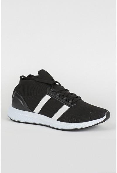 Tommy Life Bilekli Siyah-Beyaz Erkek Spor Ayakkabı