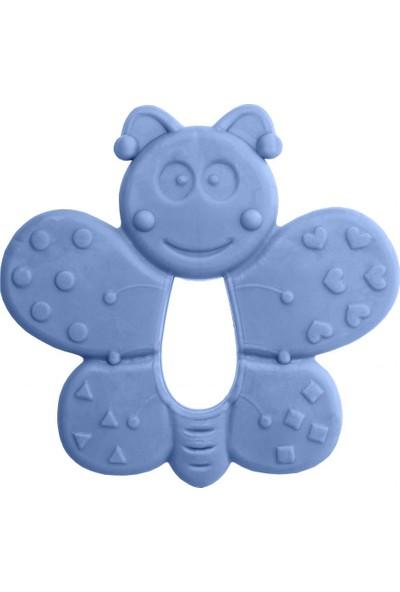 Bambino Kauçuk Yumuşak Diş Kaşıyıcı Mavi Kelebek