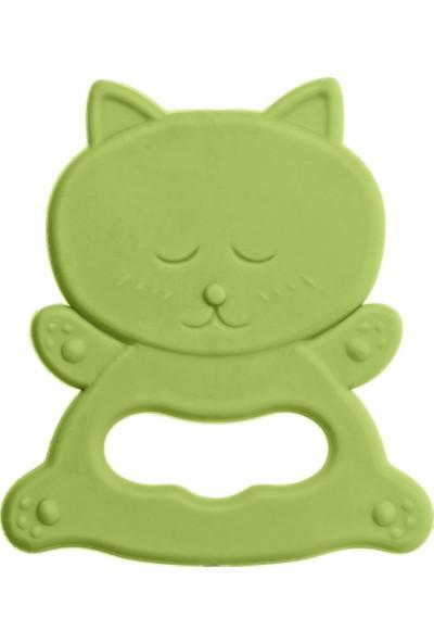 Bambino Kauçuk Yumuşak Diş Kaşıyıcı Yeşil Kedi