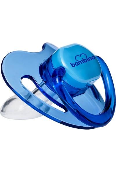 Bambino Silikon Damaklı Emzik No:1 0-6 Ay Mavi