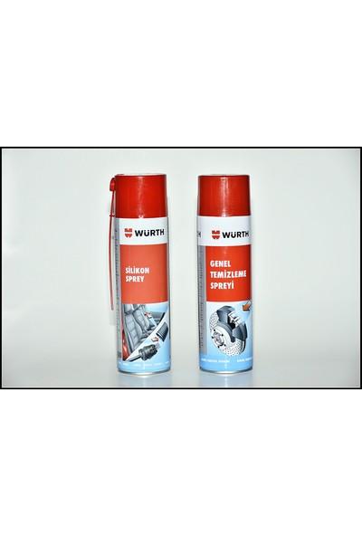 Würth Genel Temizleyici 500 ml + Würth Silikon Sprey 500 ml 2'li Set