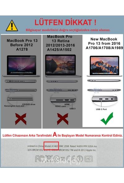 Macstorey Yeni MacBook Pro A1706 A1708 A1989 13inç Kılıf Kapak Koruma Hard ıncase Kumaş 01-A2-1481