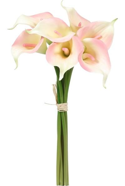 Kuk Yapay Çiçek Gala Demet Krem Pembe