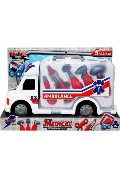 Sunman Sesli ve Işıklı Çantalı Ambulans Doktor Seti