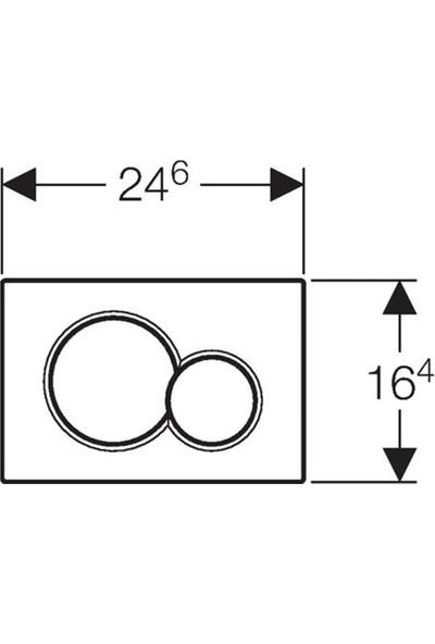 Geberit Sigma 01 Kumanda Kapağı - Çift Basmalı Mat Krom
