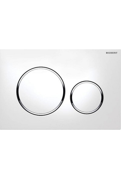 Geberit Sigma 20 Kumanda Kapağı - Çift Basmalı Beyazparlakbeyaz