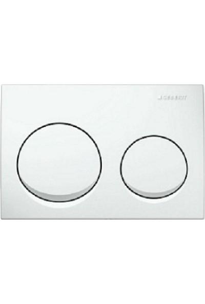 Geberit Alpha 10 Kumanda Kapağı - Çift Basmalı Beyaz