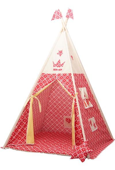 Henna Prime Çocuk Oyun Çadırı Kırmızı Kalpli