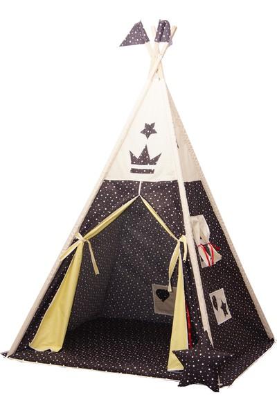 Henna Prime Çocuk Oyun Çadırı Siyah Yıldızlı