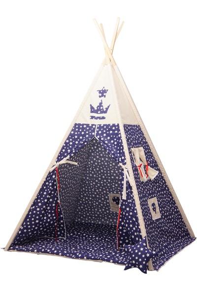 Henna Prime Çocuk Oyun Çadırı Mavi Yıldızlı