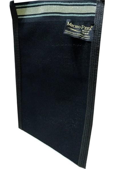 Micro Peel İpek Sırt ve Vücut Kesesi Siyah 17X26