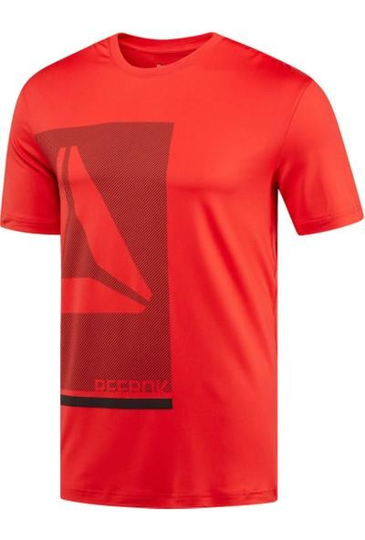 Reebok Wor Prem Graph Tech Top Kirmizi Erkek Kısa Kol T-Shirt