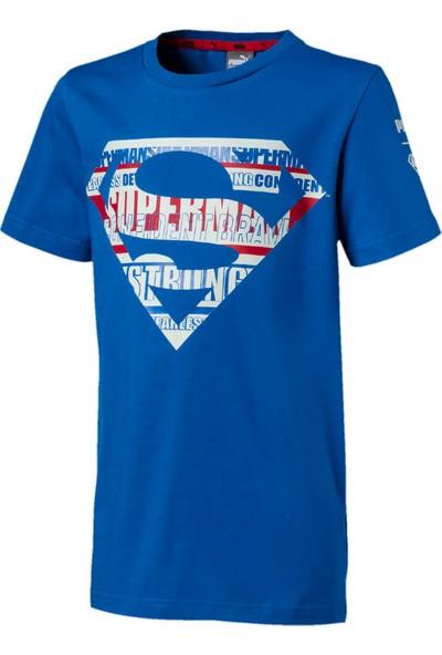 Puma Justice League Tee B Mavi Unisex Çocuk Kısa Kol T-Shirt
