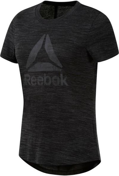 Reebok Te Marble Logo Tee Black Siyah Kadın Kısa Kol T-Shirt
