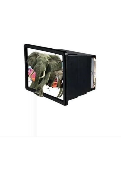F2 Telefon Ekran Büyüteci 3D Mercek TV Görünümlü