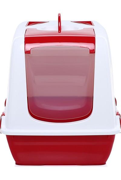 Milo Kapalı Kedi Tuvaleti Kırmızı 37 x 50 x 39,5 cm