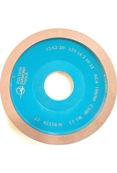 Pultuva Elmas Bi̇leme 12A2 Çanak Modeli̇ 125 x 10 Deli̇k Çapı 32 mm KUM 100 x 80 mm