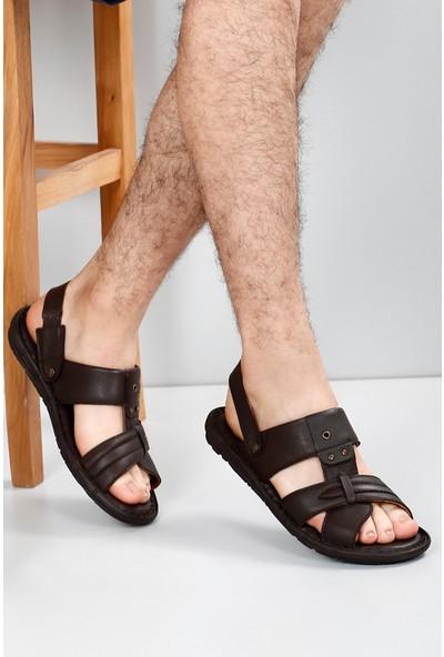 Gön Hakiki Deri Erkek Sandalet 42611