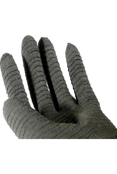 Faba H2-45 Si̇yah Latex Ki̇myasal Eldi̇ven 45 cm Pütürlü